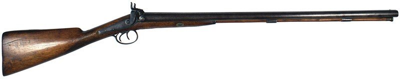 16: English double-barrel percussion shotgun