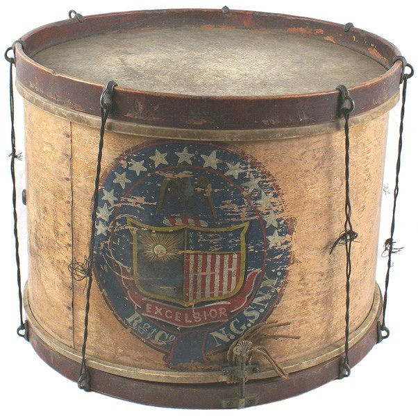 125: Civil  War snare drum State of New York