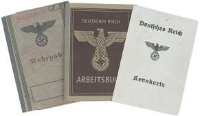 173 Lot of 3 German WWII IDs