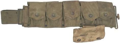 266 US WWI Mills web cartridge belt