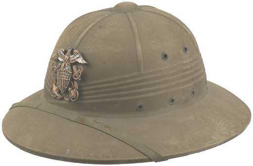 524bf65dac 390  U.S .Navy WWII pith helmet