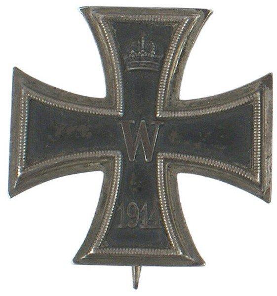 5: German WWI 1914 Iron Cross 1st Class medal