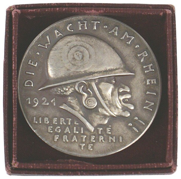 17: German 1921 Anti-French commemorative medal GOETZ