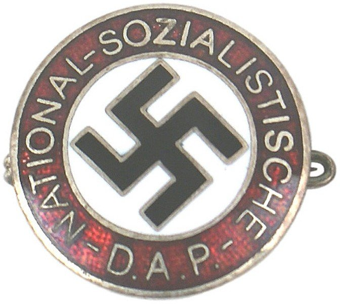 19: German WWII NSDAP member pin