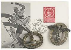 783: Reproduction German WWII medals postcard