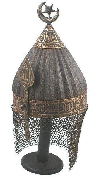 5: Museum copy of 15th century Turkish helmet