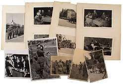 154 Lot of 32 German Army WWII postcard photos