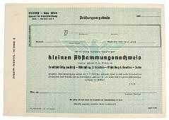 258 German WWII NSDAP Gau Wien 1942 certificate Aryan