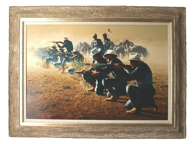 304: The Last Charge oil on canvas U.S. Cavalry troops