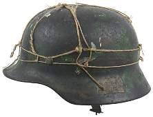 329 German WWII Luftwaffe M1935 camo helmet