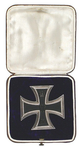 13: German WWI cased 1st Class Iron Cross