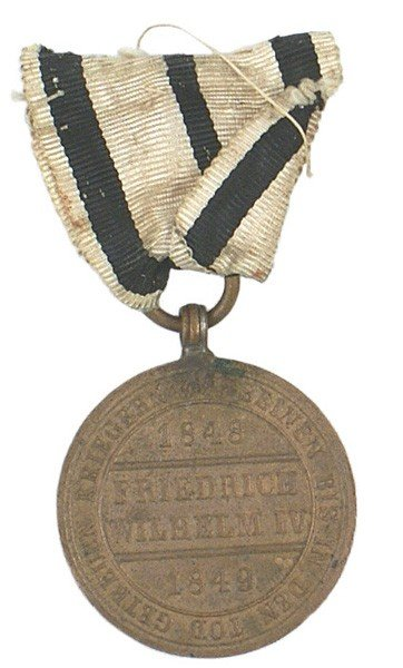 14: German 1848 Prussian War Medal