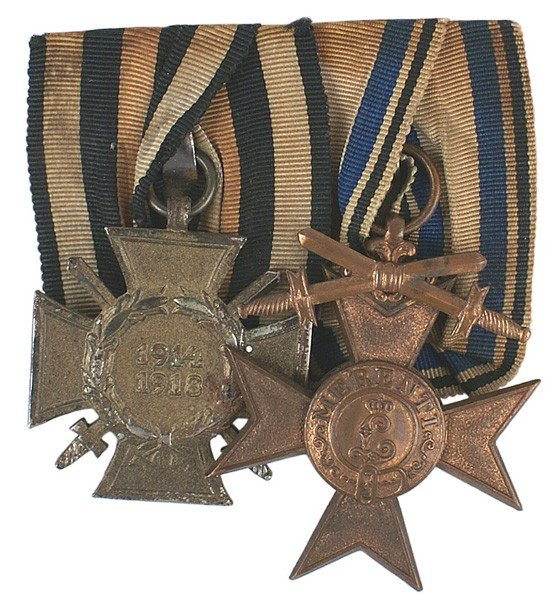20: German WWI Medal Bar Military Merit