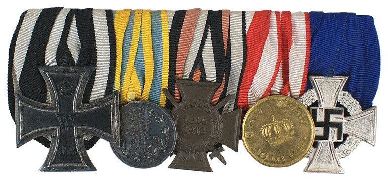 22: German WWI Medal Bar 1914 Iron Cross