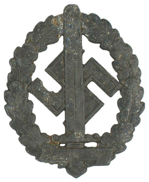 40: German WWII SA Sports Badge War Wounded