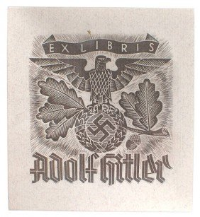 Adolf Hitler Library Bookplate