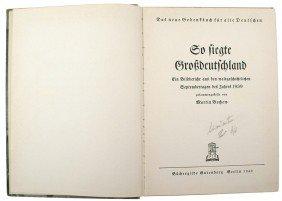 Adolf Hitler Library Book SO FIEGTE GROSSDEUTSCHLA