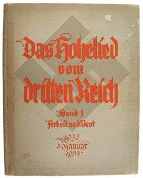 Adolf Hitler Library Book DAS HOHELIED VOM DRITTEN