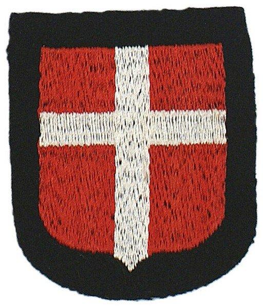 464: German WWII SS sleeve shield Freikorps Danmark