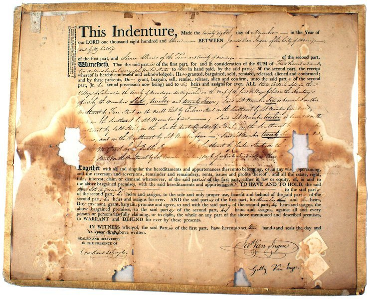 66: Lot of 2 early 19th Century Indentures