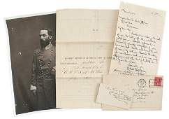 129 Civil War lot letter calling card signature etc