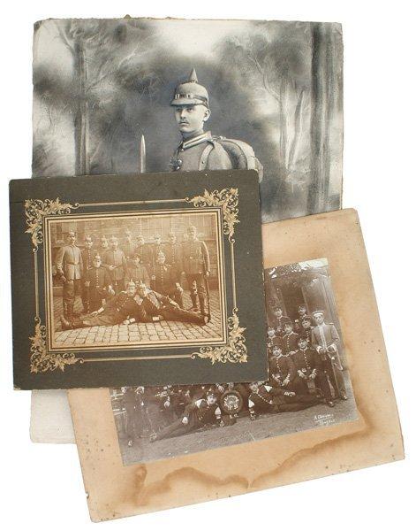 246: Lot of 3 Imperial German photos hardstock