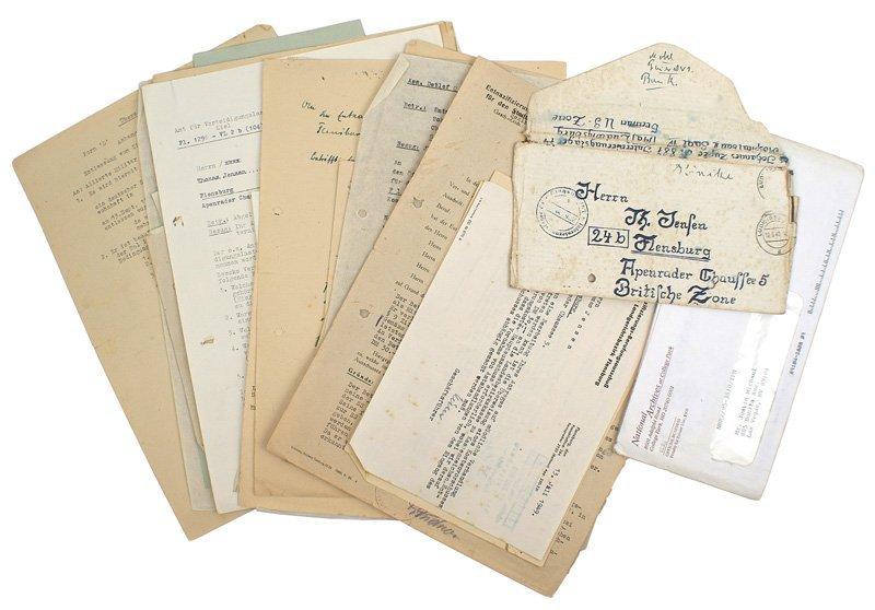 307: German WWII lot letters etc  Waffen-SS