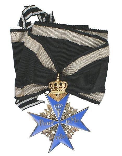 1: German Prussian Order Pour le Merite medal