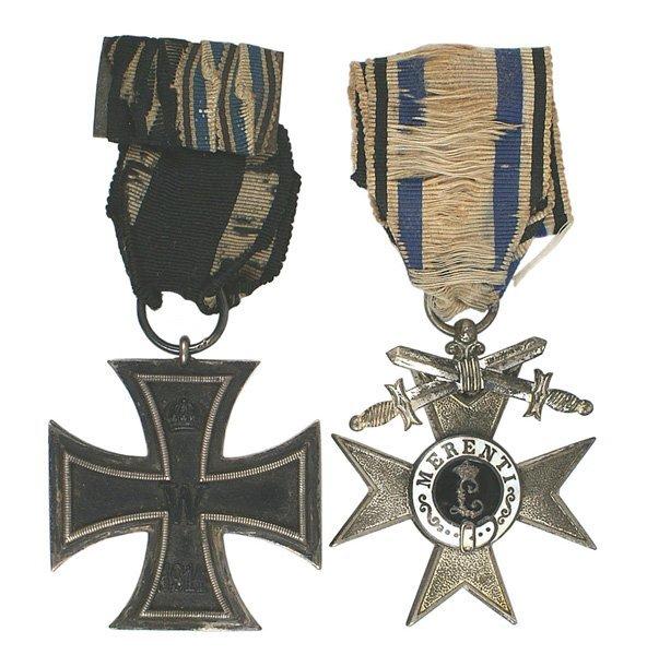 10: German WWI Iron Cross Merit Cross medals