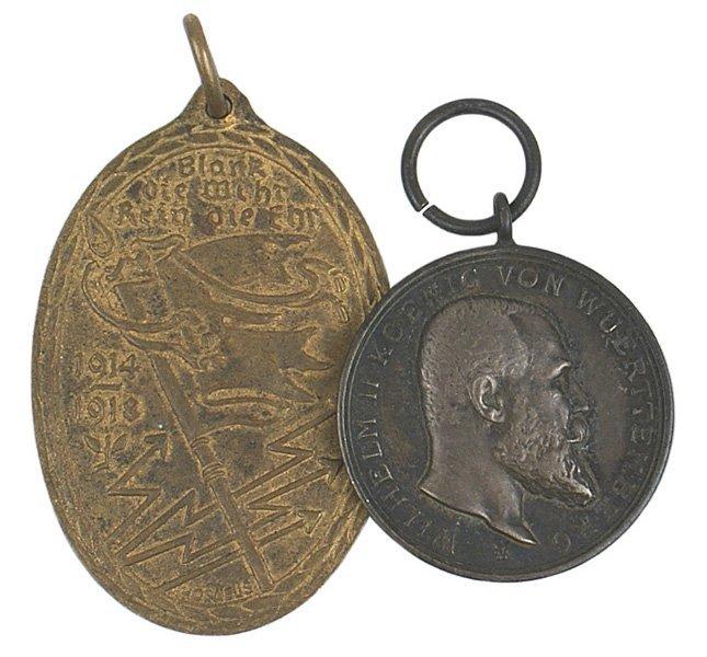 11: German WWI Wurttemberg Bravery Medals Veteran