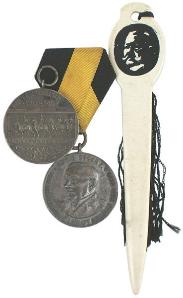 20: Lot of 2 German medals WORMS Shooting etc