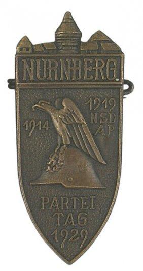 German NURNBERG NSDAP 1929 Badge