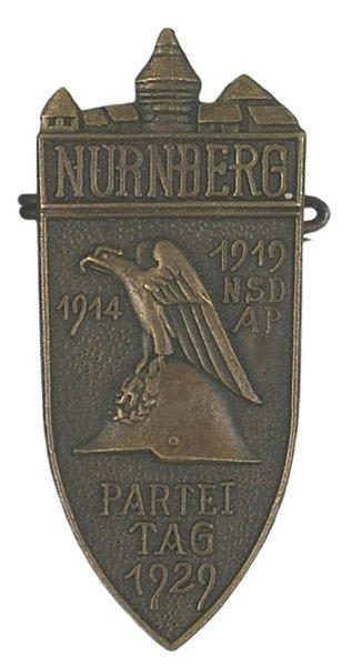 21: German NURNBERG NSDAP 1929 Badge