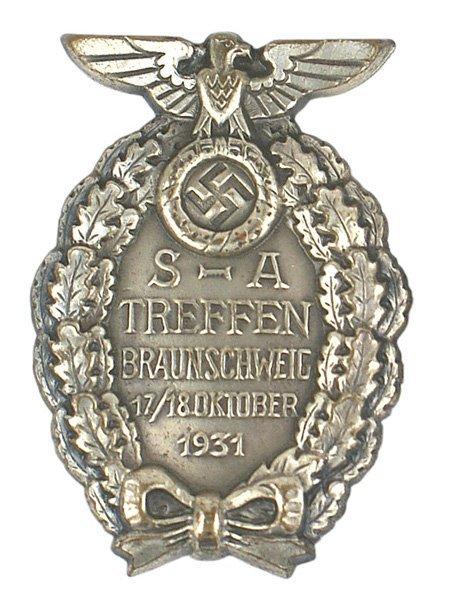 23: German WWII SA Brunswick 1931 Badge