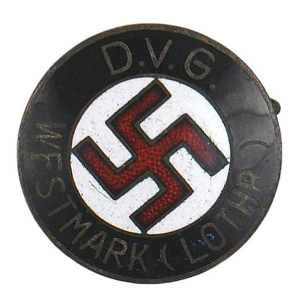 26: German WWII NSDAP regional member badge