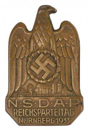 German WWII NSDAP NURNBERG 1933 Badge