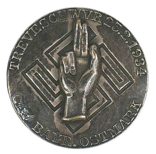 28: German WWII GAU 1934 Loyalty Day Badge