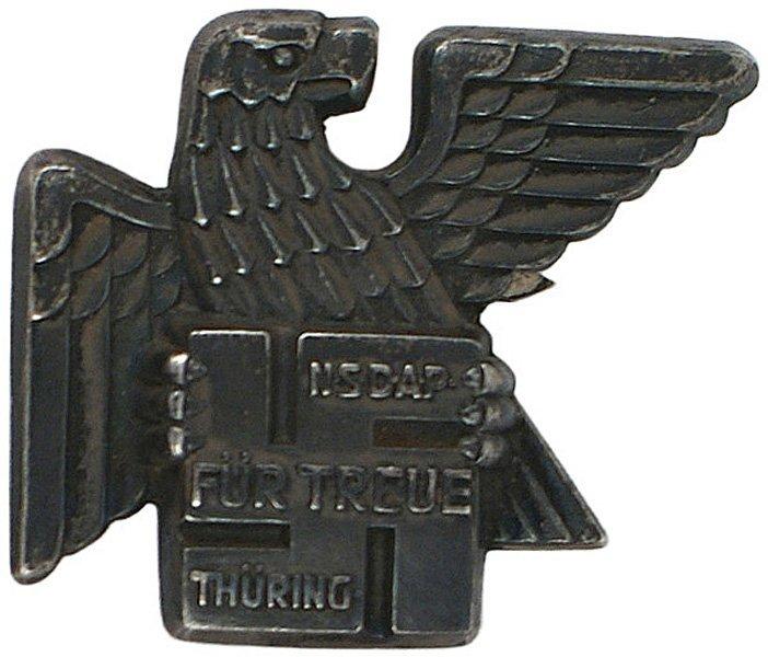 31: German WWII Gau Thuringen Badge 1936