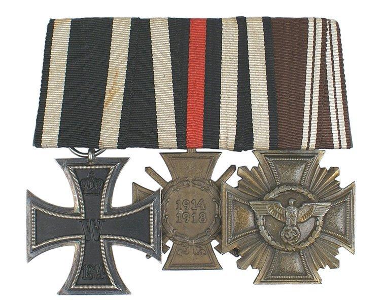 33: German WWII Medal bar Iron Cross NSDAP