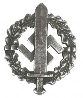 German WWII SA Sports Badge Silver
