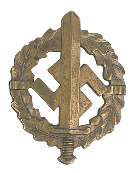 39: German WWII SA Sports Badge Bronze