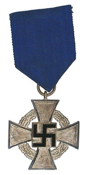 48: German WWII 25-yr. Faithful Service Cross