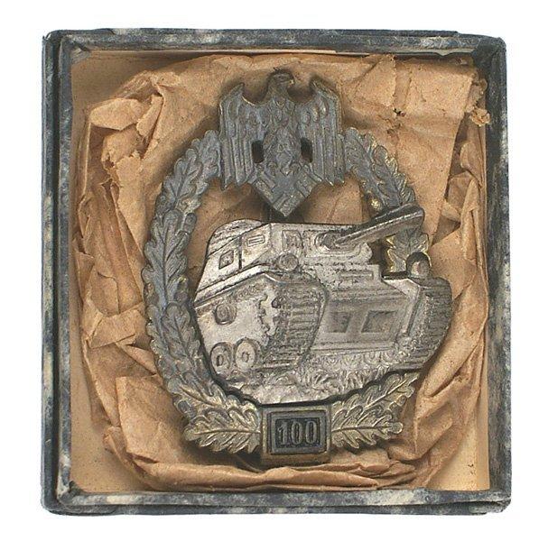 133: German WWII Panzer Assault Badge 100