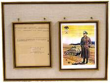 320: German WWII document Signed Rommel