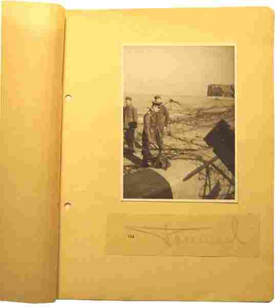 German WWII photo signed by Rommel