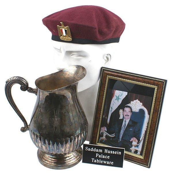 351: Lot tableware Saddam Hussein's palace etc