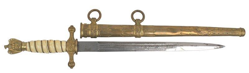 365: German WWII Navy officer dagger