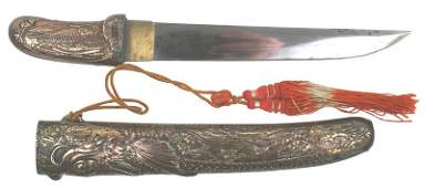 393 Japanese decorative export dagger Circa 1900