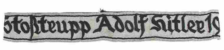 504: German WWII Stosstrupp Adolf Hitler cufftitle