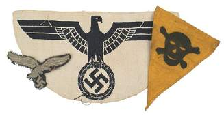 563 Miscellaneous German WWII cloth lot eagle etc